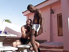 Black gays near the pool Franco..